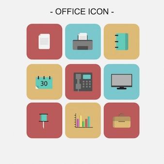 Colección de iconos de oficina