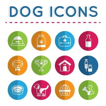Colección de iconos de perro