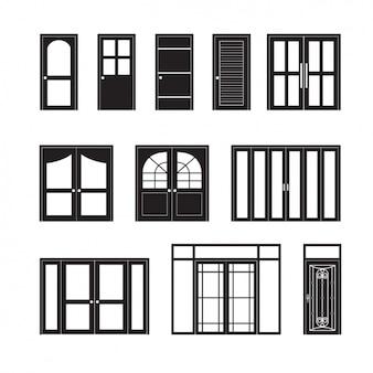 Colección de iconos de puertas
