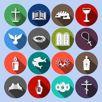 Colección de iconos de religión