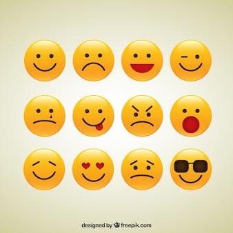 Colección de iconos sonrientes