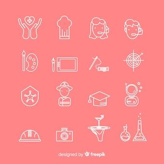 Colección de iconos para tarjetas de visita