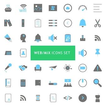Colección iconos tema web