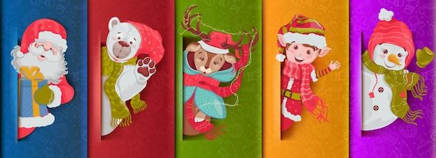 Colección de iconos temáticos de navidad.