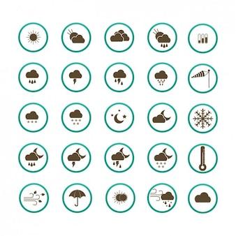 Colección de iconos del tiempo