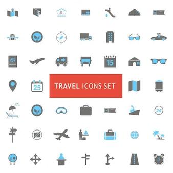 Colección iconos viaje