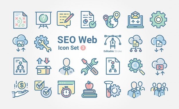 Colección de iconos web seo