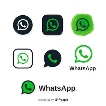 Colección de iconos de whatsapp