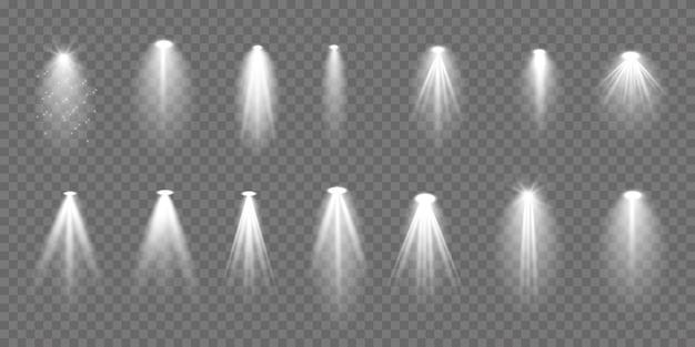 Colección de iluminación de escena, efectos transparentes.