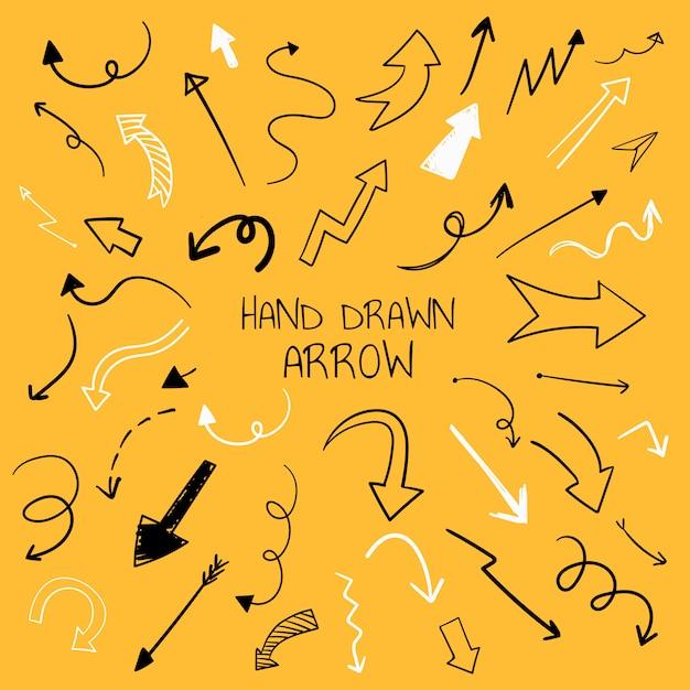 Colección de ilustración de flecha dibujada a mano