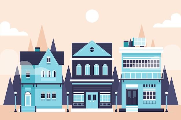 Colección de ilustraciones de casas