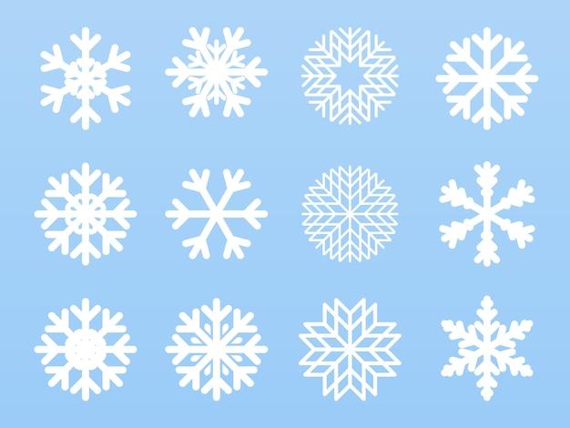 Colección de ilustraciones de copos de nieve