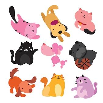 Colección de ilustraciones de mascotas