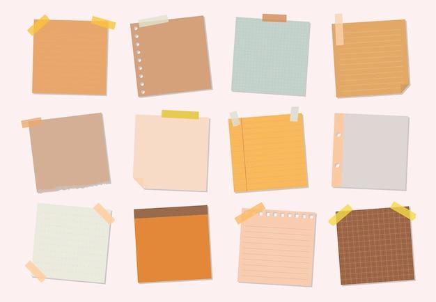 Colección de ilustraciones de notas adhesivas
