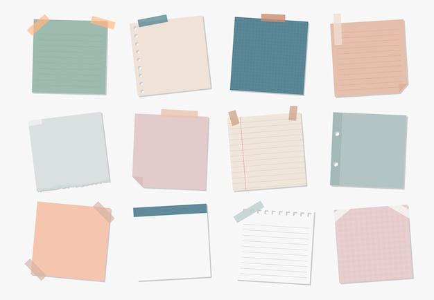 Colección de ilustraciones de notas adhesivas vector gratuito