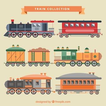 Colección de ilustraciones de trenes