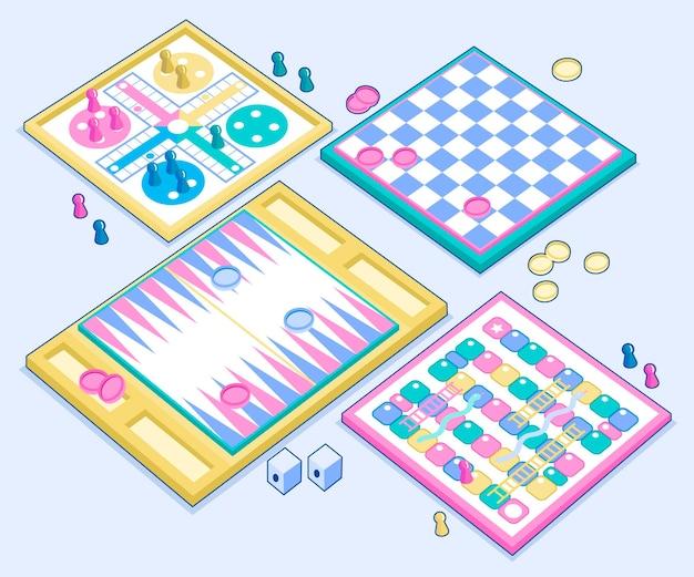 Colección infantil de la sociedad de juegos de mesa.