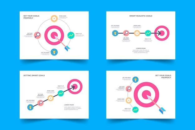 Colección de infografía de objetivos