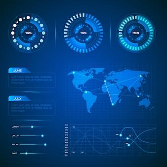 Colección de infografía tecnológica