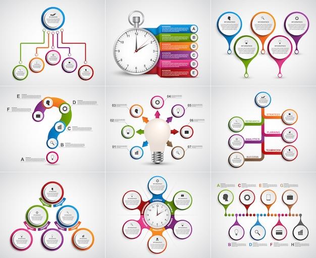 Colección de infografías. elementos de diseño.