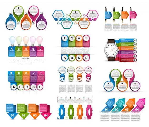 Colección de infografías.