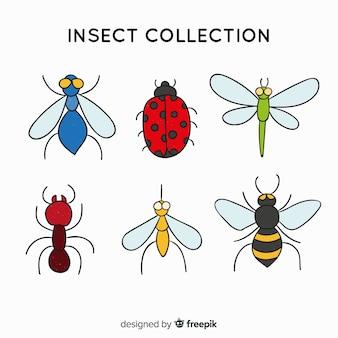 Colección insectos simples