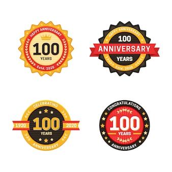 Colección de insignias del 100 aniversario