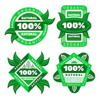 Colección de insignias 100% natural