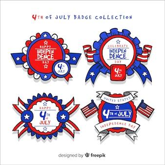 Colección de insignias del 4 de julio