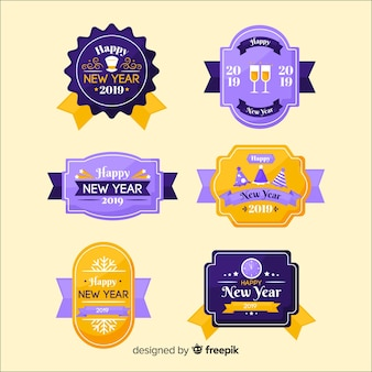 Colección de insignias de año nuevo 2019