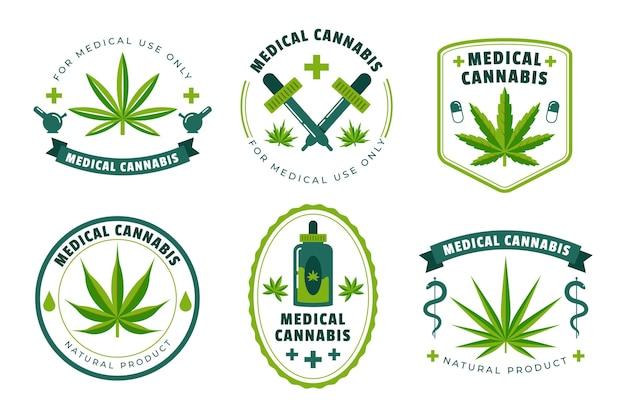 Colección de insignias de cannabis medicinal.