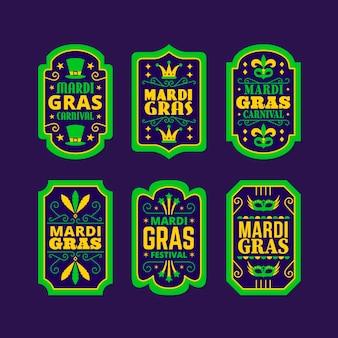 Colección de insignias de carnaval