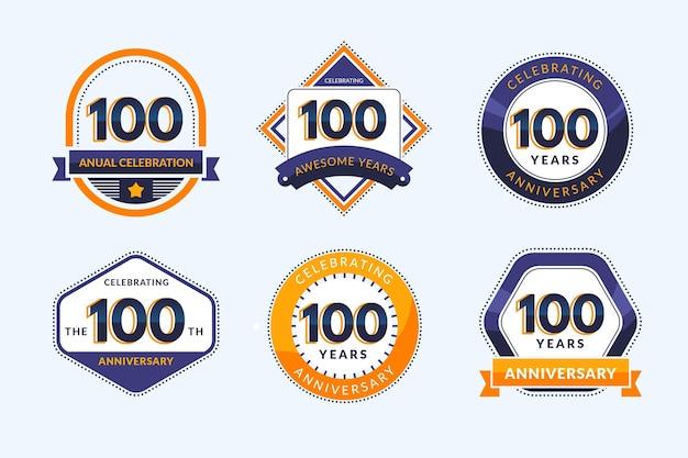 Colección de insignias del cien aniversario