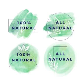 Colección de insignias cien por cien naturales