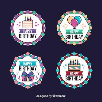 Colección de insignias de cumpleaños