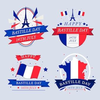Colección de insignias del día de la bastilla