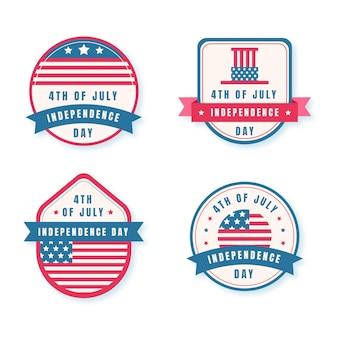 Colección de insignias del día de la independencia del 4 de julio
