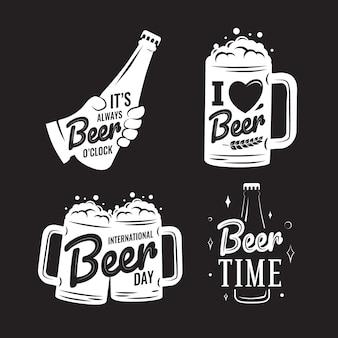 Colección de insignias del día internacional de la cerveza