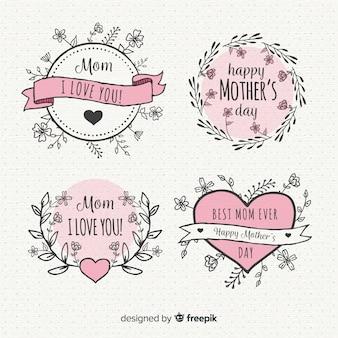 Colección de insignias del día de la madre