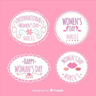 Colección de insignias del día de la mujer