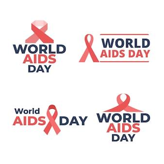 Colección de insignias del día mundial del sida