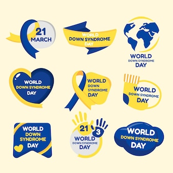 Colección de insignias del día mundial del síndrome de down