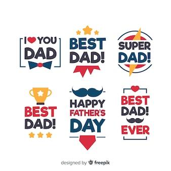 Colección de insignias del día del padre