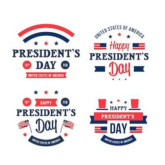 Colección de insignias del día del presidente
