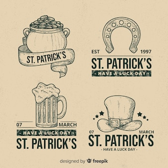 Colección de insignias de día de san patricio