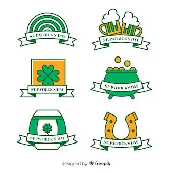 Colección de insignias del día de san patricio