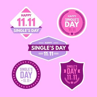 Colección de insignias del día del soltero