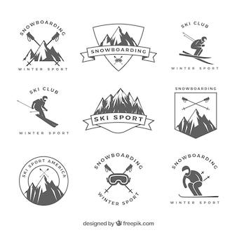 Colección de insignías de esquí