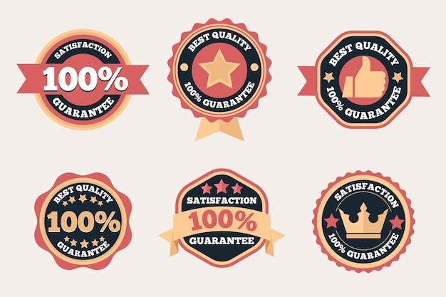 Colección de insignias de garantía