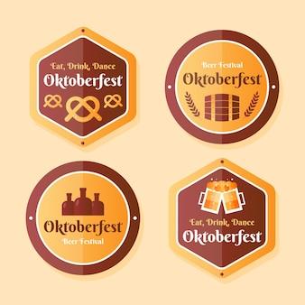 Colección de insignias gradiente oktoberfest